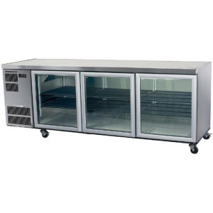 Skope Counterline Slim 3 Glass Door Undercounter Bar Fridge