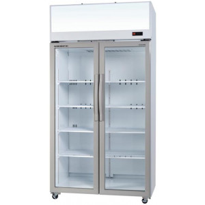 Skope Top Mount Double Glass Door Display Fridge TCE1000