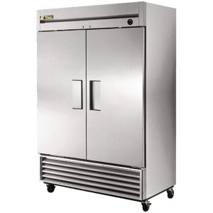 True 2 Door Stainless Steel Upright Freezer 1388Ltr