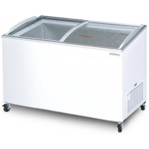 Bromic Display Chest Freezer Angled Glass Top 427L CF0500ATCG - White