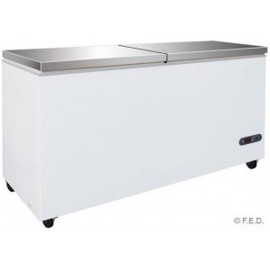 BD598F Chest Freezer With SS Lids Thermaster - White