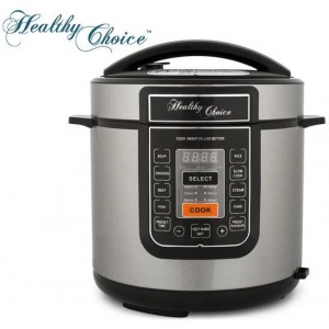 Healthy Choice 6L Pressure & Slow Cooker - Black
