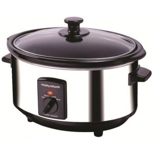 Morphy Richards 3.5L Polished Stainless Steel Slow Cooker