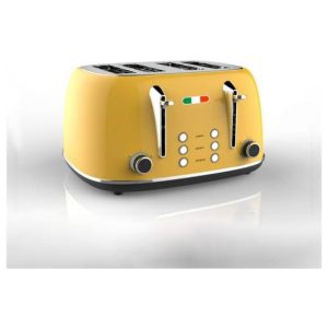 Vintage Electric 4 slice Toaster Yellow Stainless Steel 1650W