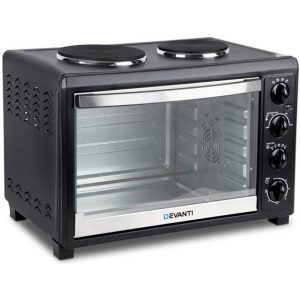 Buy Devanti 45L Convection Oven with Hotplates   Kings Warehouse