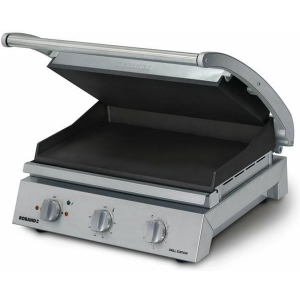 Roband Grill Station 8 slice, non stick with ribbed top plate RB-GSA810RT Panini Presses & Sandwich Grills - Silver