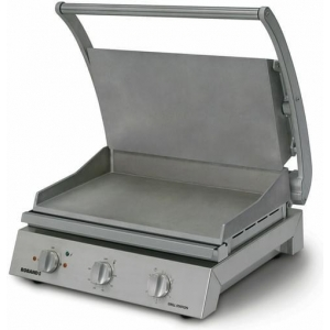 Roband Grill Station 8 slice, smooth plates RB-GSA810S Panini Presses & Sandwich Grills - Silver