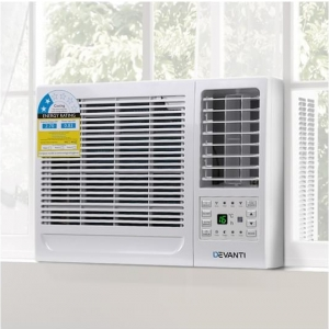 Devanti Window Air Conditioner Portable w/o Reverse Cycle 2.7kW Wall Cooler Fan Cooling Only