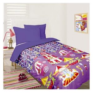 Fun at the Fair Glow in the Dark Quilt Cover Set, Blue