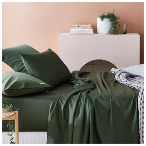 Home Republic 600tc Bamboo Cotton Separates Ivy Fitted Sheet By Adairs