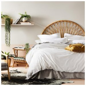 Home Republic Bamboo Linen Bedlinen Super King White Quilt Cover By Adairs