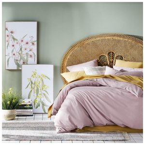 Home Republic Stonewashed Cotton Bedlinen W17 Violet Quilt Cover By Adairs