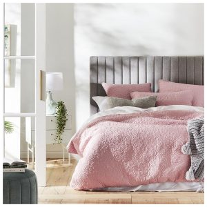 Mercer + Reid Chloe Quilted Bedlinen Peony Pink Quilt Cover - Peonypink By Adairs