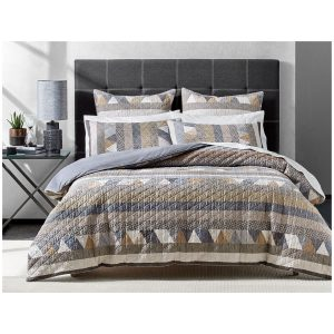 Hugo Quilted Cotton Double Quilt Cover