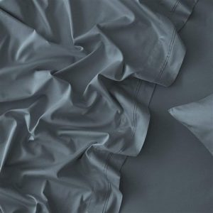 MyHouse Riley Bamboo Cotton Double Bed Sheet Set Midnight Blue