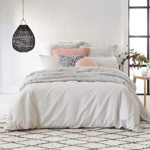 Alex Liddy Edit Quilt Cover Double Grey Mist