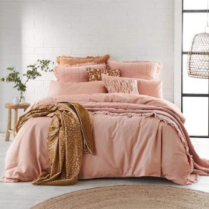 Alex Liddy Edit Quilt Cover Double Pink Dust