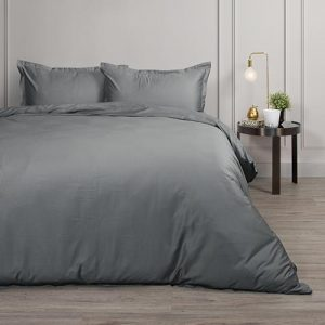 Canningvale Palazzo Royale 1000TC Queen Quilt Cover Set - French Grey