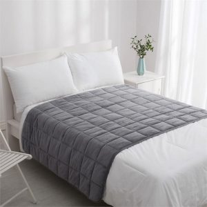 Calming Soft Weighted Blanket Synthetic Fibre Grey Dreamaker