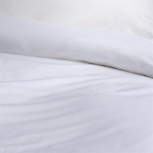 Canningvale Alessia Bamboo Cotton Quilt Cover Sets - Double, Carrara White