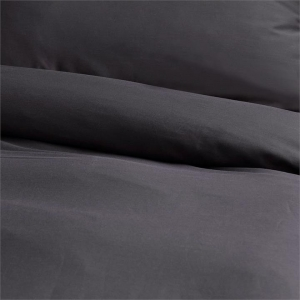 Canningvale Alessia Bamboo Cotton Quilt Cover Sets - Double, Porcini Grey