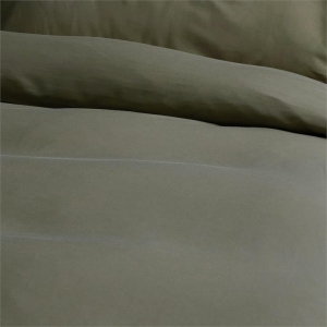 Canningvale Alessia Bamboo Cotton Quilt Cover Sets - King, Saggia Green
