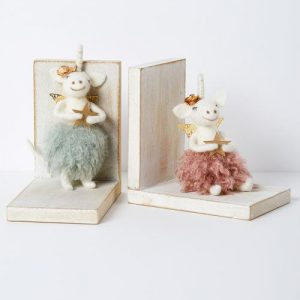 Unicorn Bookends Assorted Set of Two - Pink/Green
