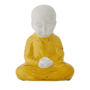 Home Republic Buddha Statue L12xW11xH18cm Yellow/Grey - Yellowgrey By Adairs