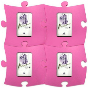 4PK 265mm Wall Puzzle Picture Photo Frame f/10x15cm Photography Pink Pantone