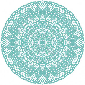PODEVACHE - Bright Sunset Placemat - Turquoise