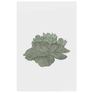The Flowering Print Metal Print Small Green