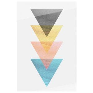 The Triangle Print Metal Print Small