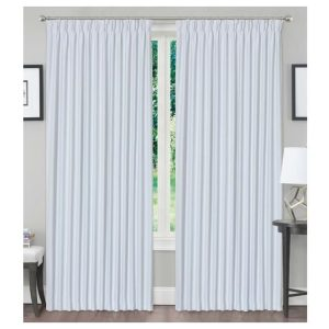 3Layers Fabric Blackout Pinch Pleat Curtain Drapes Offwhite(Silver) 1 Panel