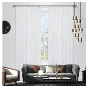 Omagh Room Darkening Pinch Pleat Curtains White Pair of 2