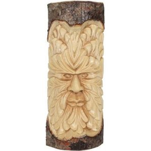 Something Different Green Man Wood Carving Wall Art (Beige/Brown) - SD2681