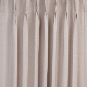 Morocco Blockout Pinch Pleat Ready Made Curtains, Linen, 213 Drop