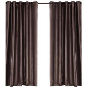 2X Blockout Curtains Blackout Curtain Bedroom Window Eyelet Taupe 140CM x 230CM