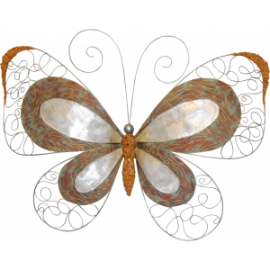Capiz Shell & Wire Butterfly Wall Art - Large
