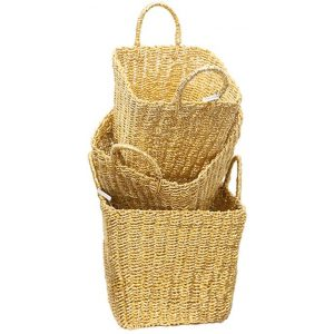 Recycled Twisted Foil Basket (Set of 3) Aluminium Gold Whiskey Boyd Design