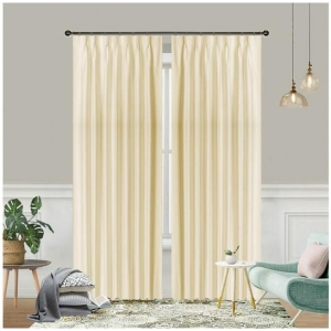 Colorado Blockout Pinch Pleat Curtains Sand Pair of 2