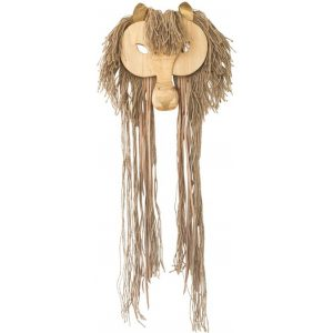 Wes The Lion Wall Hanging Wood Brown Amigos De Hoy