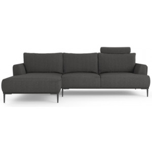Como Motion Modular Sofa with Chaise Nickel Grey Left Chaise