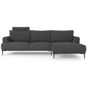 Como Motion Modular Sofa with Chaise Nickel Grey Right Chaise