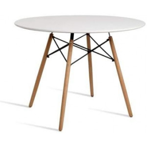 Eames Replica Round Dining Table - 100cm - White