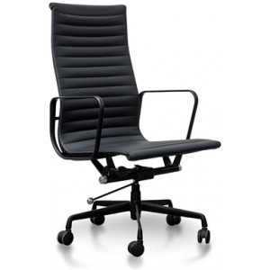 Executive Leather Office Chair - Eames Replica - Full Black by Interior Secrets - AfterPay Available