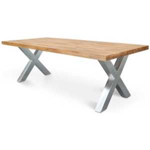 Kent 2.5m Outdoor Dining Table - Galvanized by Interior Secrets - AfterPay Available