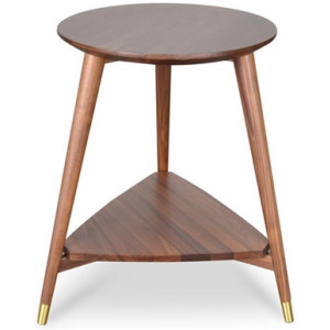 Olivia Side Table in Walnut by Interior Secrets - AfterPay Available