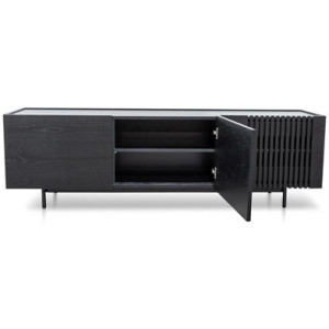 Onito 180cm Wooden Entertainment TV Unit - Full Black by Interior Secrets - AfterPay Available
