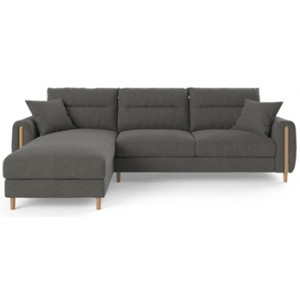 Oslo 3 Seater Modular Sofa with Chaise Dark Gull Grey Left Chaise