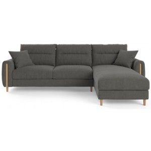 Oslo 3 Seater Modular Sofa with Chaise Dark Gull Grey Right Chaise